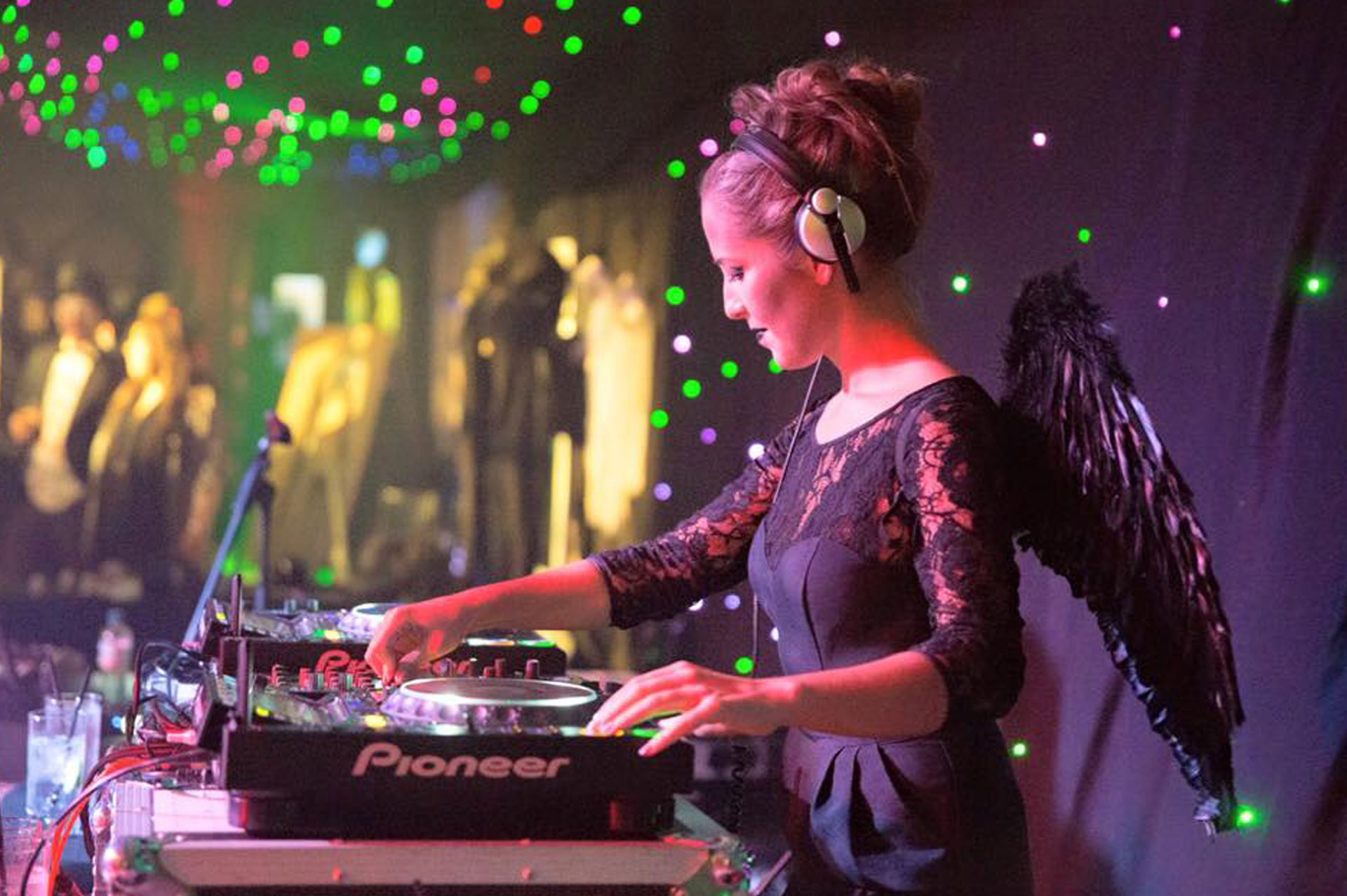 House of Angels DJ with wings